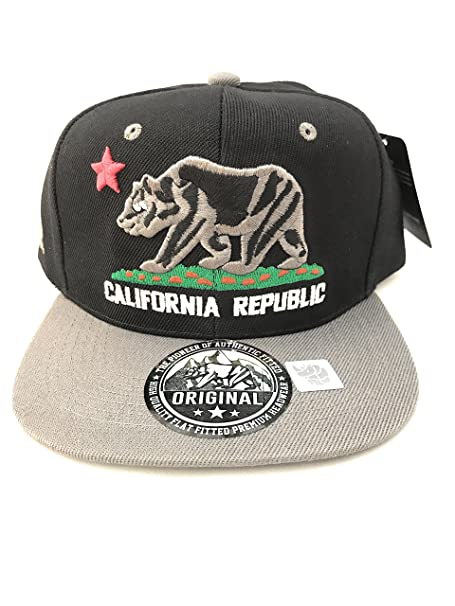 a338e1327f6f2 Image Unavailable. Image not available for. Color  CALIFORNIA REPUBLIC Gray  on Black ...