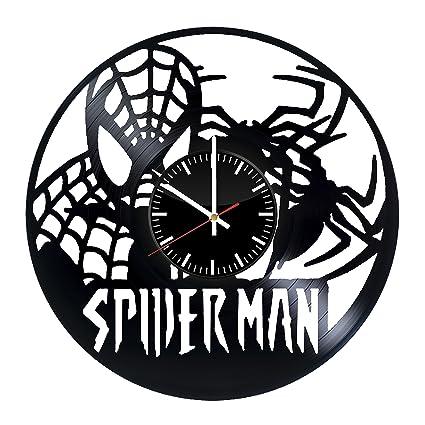 Spiderman Vinyl Records Wall Clock - Spider-Man Art Room Decor Handmade Decoration Party Supplies