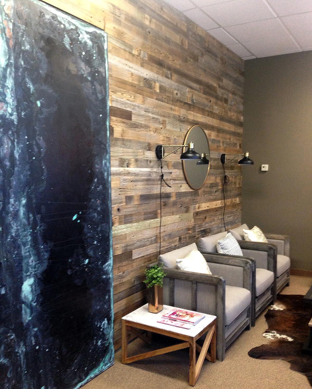 amazon com reclaimed barn wood wall panel easy peel and stick