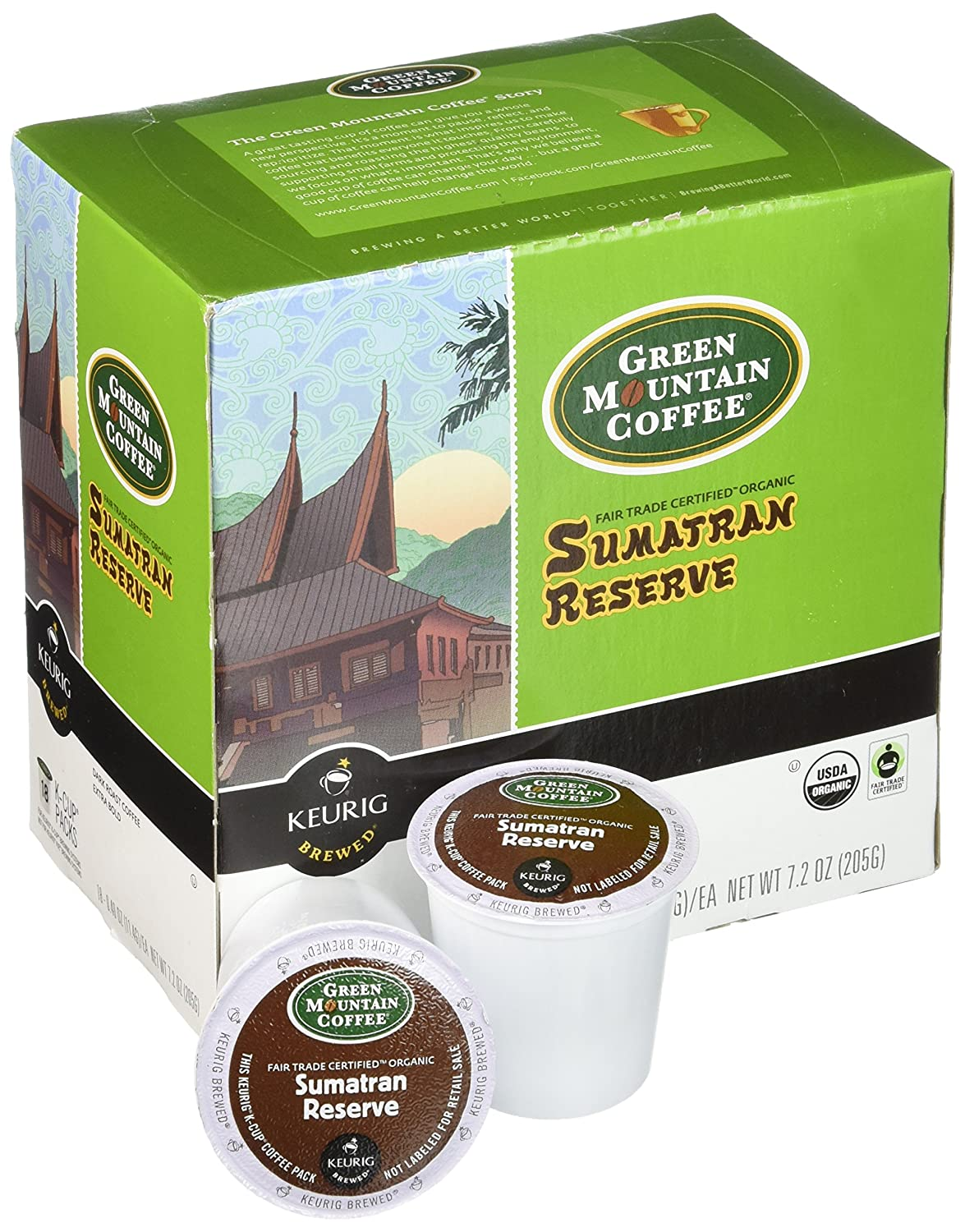 Amazon.com: Green Mountain – Sumatran Reserva de café 18 ct ...