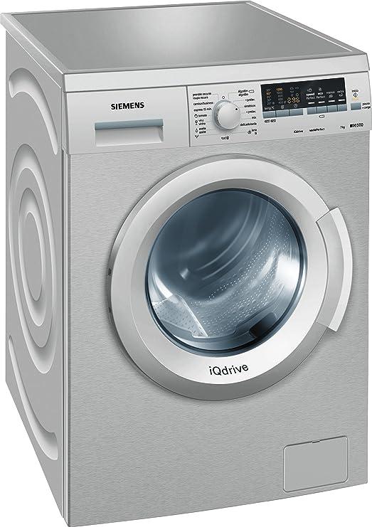 Siemens WM12Q47XES - Lavadora De Carga Frontal Wm12Q47Xes De 7 Kg ...