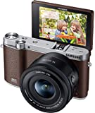 Samsung NX3000 Wireless Smart 20.3MP Mirrorless Digital Camera with 16-50mm OIS Power Zoom Lens and Flash (Brown)