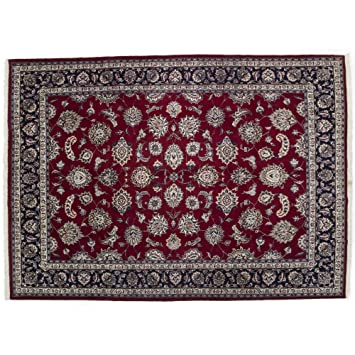 Amazon Com Area Rug Khorassan 8 X 10 Red Wool Hand Knotted Rug