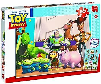 disney pixar toy story 50 piece jigsaw puzzle incl free stickers
