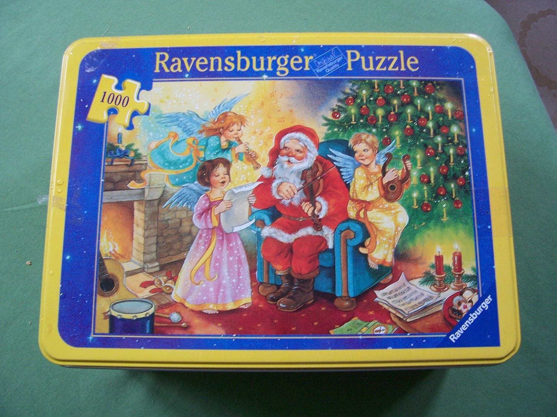 Ravensburger 155286 Puzzle 1000 Teile Weihnachtspuzzle mit Ausstechform in Metalldose von 2003