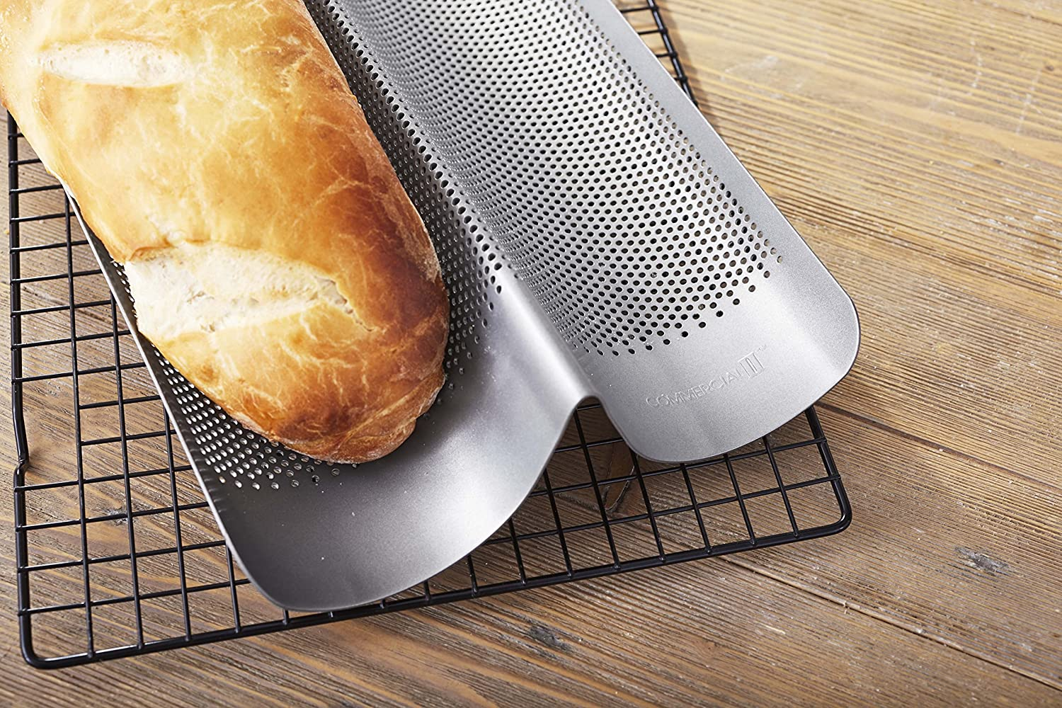 Chicago Metallic 59610 Commercial II Non-Stick Perforated French Bread Pan