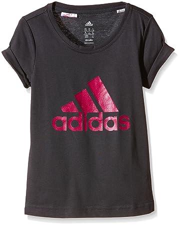 Adidas Girl S Kleiderschrank Marke Logo T Shirt Grau Dunkelgrau