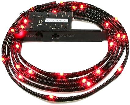 Nzxt CB-LED20-RD 2-Metres Light Sensitivity Sleeved LED Kit (Red  sc 1 st  Amazon.com & Amazon.com: Nzxt CB-LED20-RD 2-Metres Light Sensitivity Sleeved LED ...