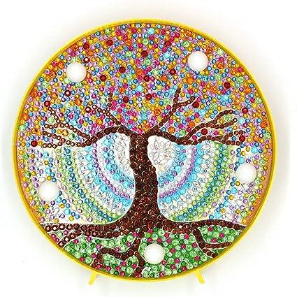 LED Diamond Painting Night Light Lamp Butterfly Tree Crystal Art Decors DIY Gift