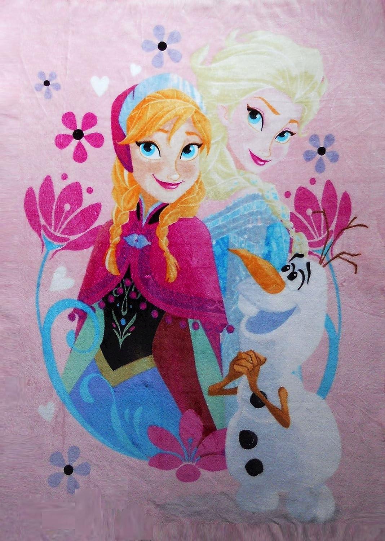 Frozen Anna, Elsa and Olaf Throw Blanket B00QT3N2LQ