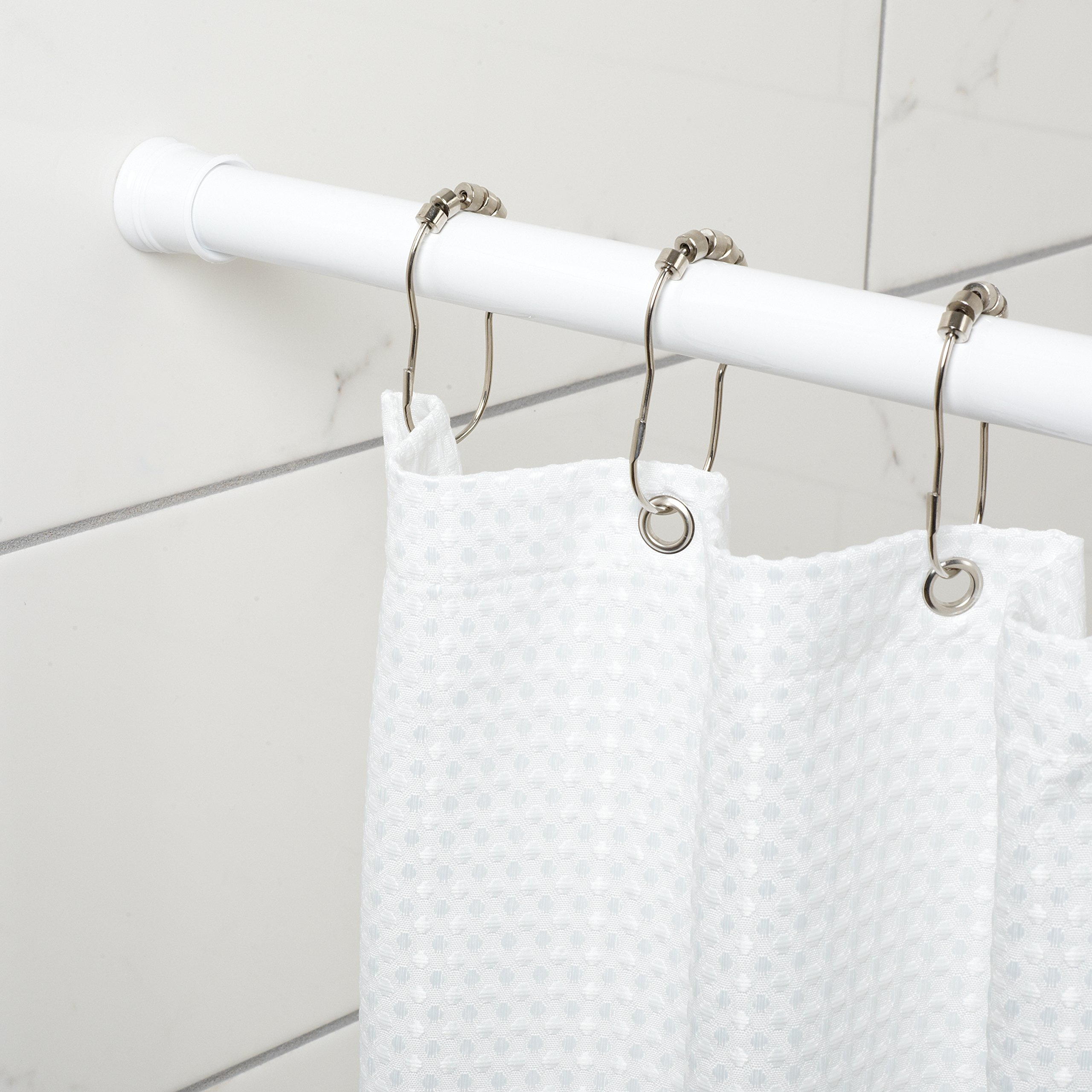 Zenna Home 886WW Tension Shower Curtain Rod 52 To 86 Inches White