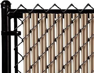 Ridged Slats Slat Depot Single Wall Bottom Locking Privacy Slat for 3', 4', 5', 6', 7' and 8' Chain Link Fence (6ft, Beige)