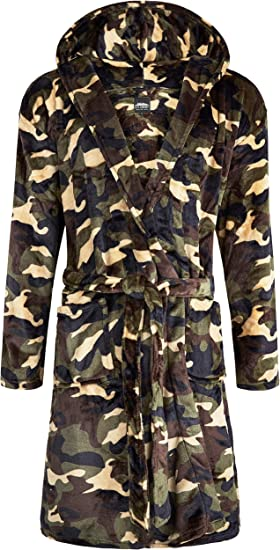 CityComfort Dressing Gown Kids Camouflage Dressing Gown for Boys Camo Fleece