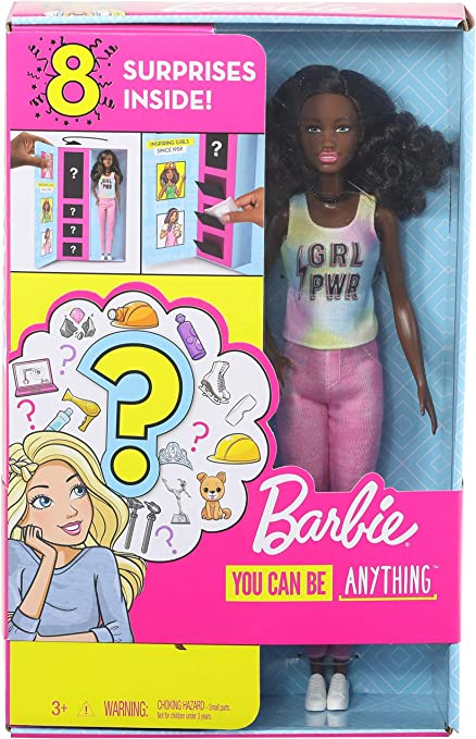 you can be anything Toy barbie with 8 surprise inside