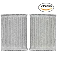 2 Packs,Non-Scratch Heavy Duty Scouring Pad, Use for Kitchen and Bathroom Cleaning, Dish Sponge for Dishes, Pots, Pans, Utensils
