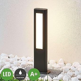 Moderno lampada da viale 2 luci, A+, lampadina inclusa Lampada LED da esterni Mhairi colore Grigio di Lampenwelt paletto luminoso lampione in Alluminio lampioncino