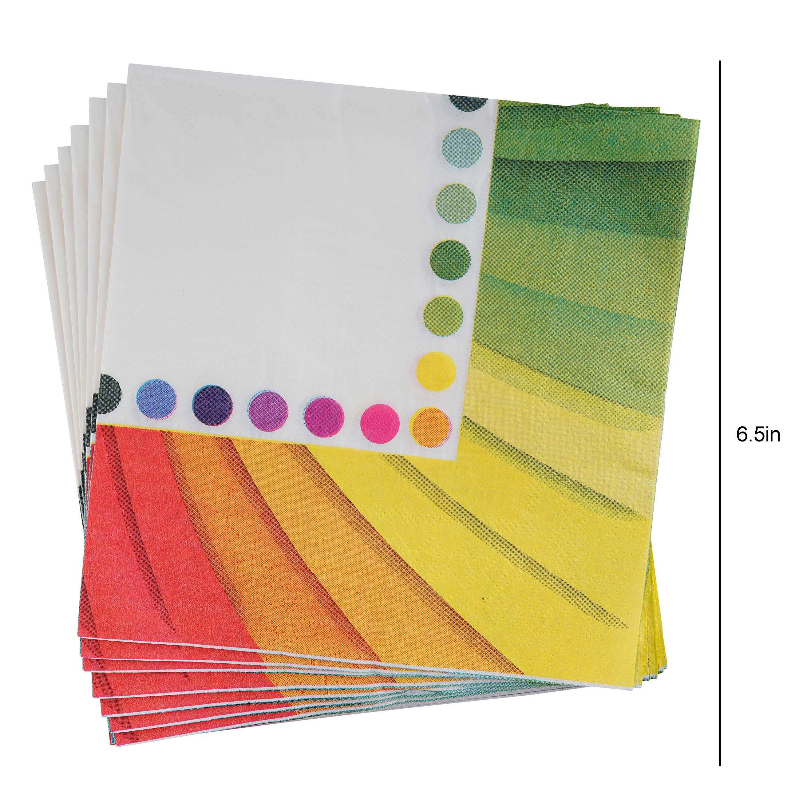 82 Piece Rainbow Party Set Including Banner, Plates, Cups, Napkins and Tablecloth, Serves 20 by Scale Rank (Image #6)