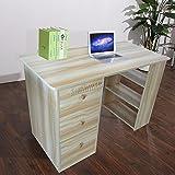 WestWood Computer Desk With 3 Drawers 3 Shelves PC Table Home Office Furniture Study Gaming Desktop Workstation Morden Large CD06 Walnut