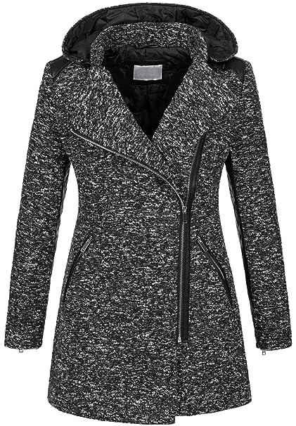 new products 2c039 a3c1d Caldo cappotto invernale da donna, cappotto di lana, melange ...