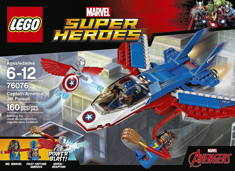 Captain 76076 Jet Kit Super America Pursuit Building Lego Heroes n0wP8Ok