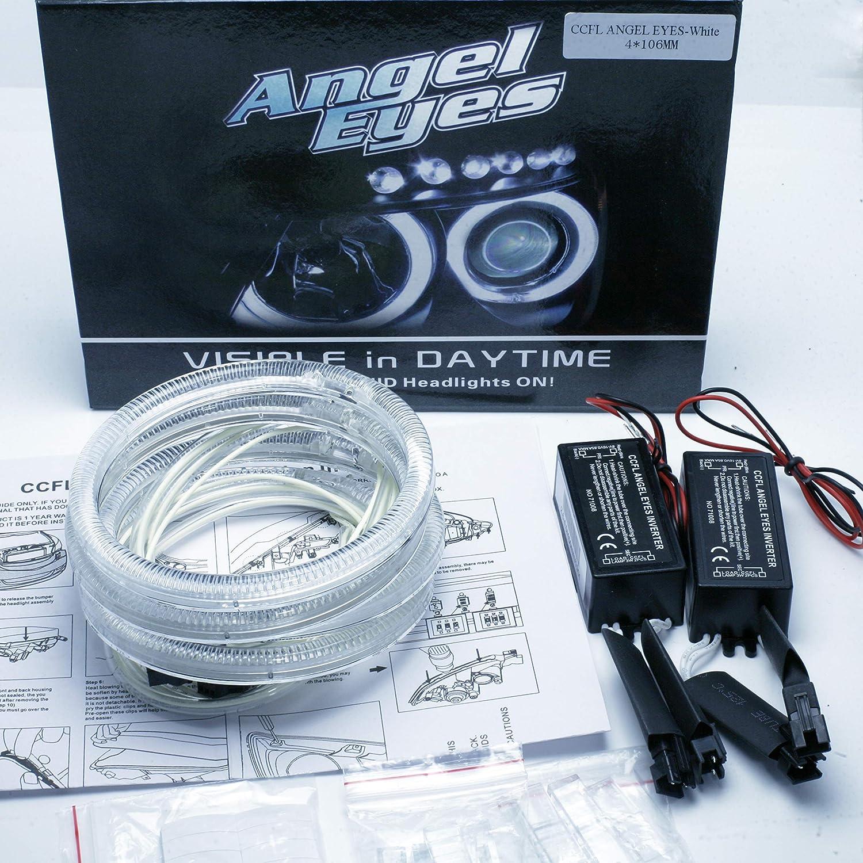 avec projecteur blanc 6000 K Kit Angel Eyes Kit d/'anneaux CCFL Angel 4 x 106 mm Canbus s/érie 3 E46 ci Facelift 2004-06