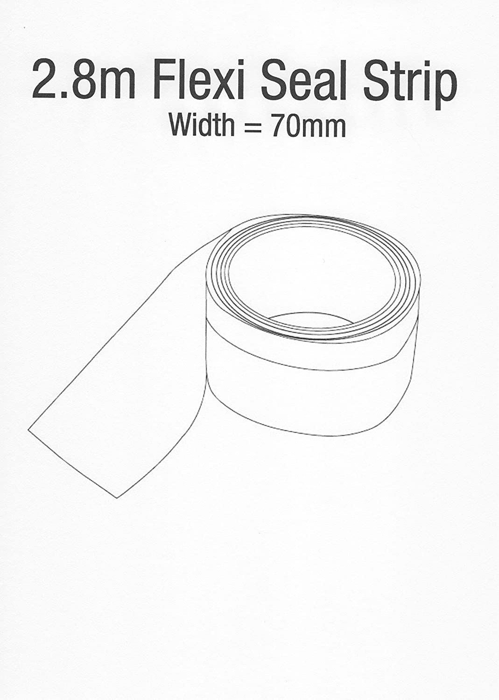 2.8 Meter Flexi Seal Strip for Bath & Shower Trays A&R Bathrooms