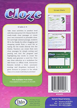 Counting Number worksheets kindergarten cut and paste worksheets free : Amazon.com: Didax Educational Resources Cloze Interactive Activity ...