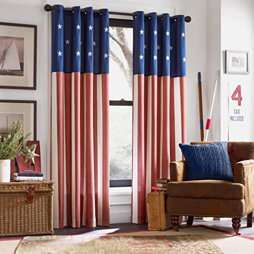Avante Bedspreads Co. American Flag Window Curtain, Americana Grommet Window Curtain Panel America USA Flag Fourth of July, 1 Panel