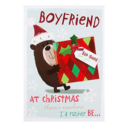 hallmark boyfriend big hugs christmas card santas naughty list medium - Boyfriend Christmas Card