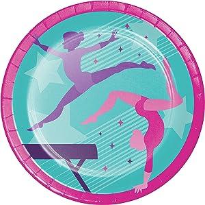 Gymnastics Party Paper Plates, 8 ct