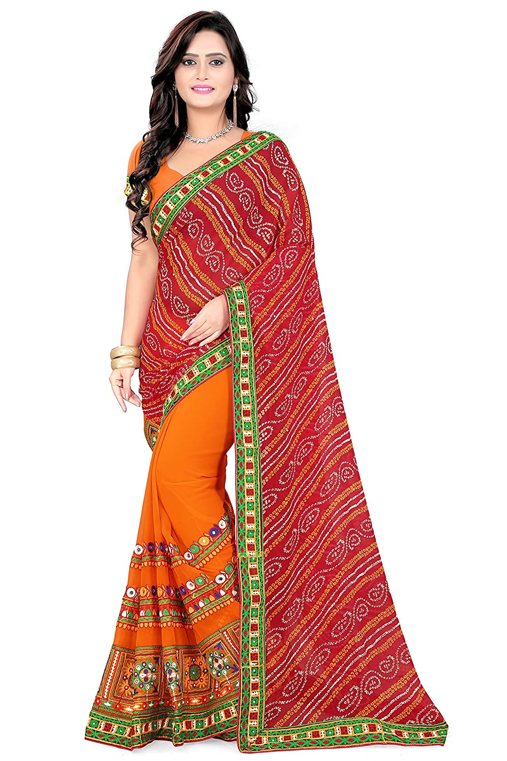 Riva Enterprise Women's Faux Georgette Saree