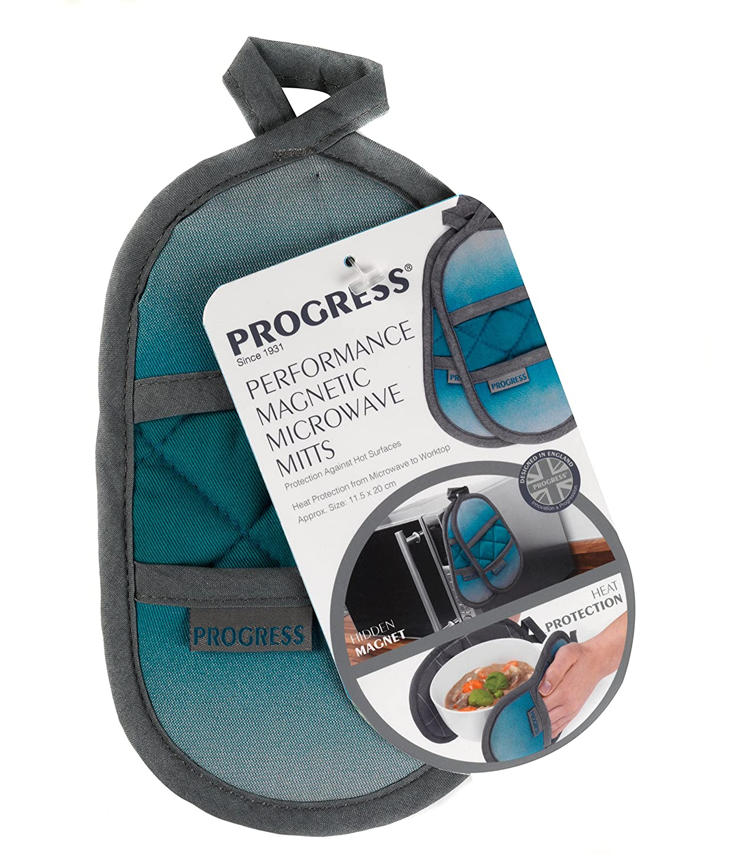 20/x 11.5/x 16/cm Coton Polyester Progr/ès Mfpro10976-omb Performance magn/étique Micro-Ondes Mitaines Bleu Sarcelle//Gris