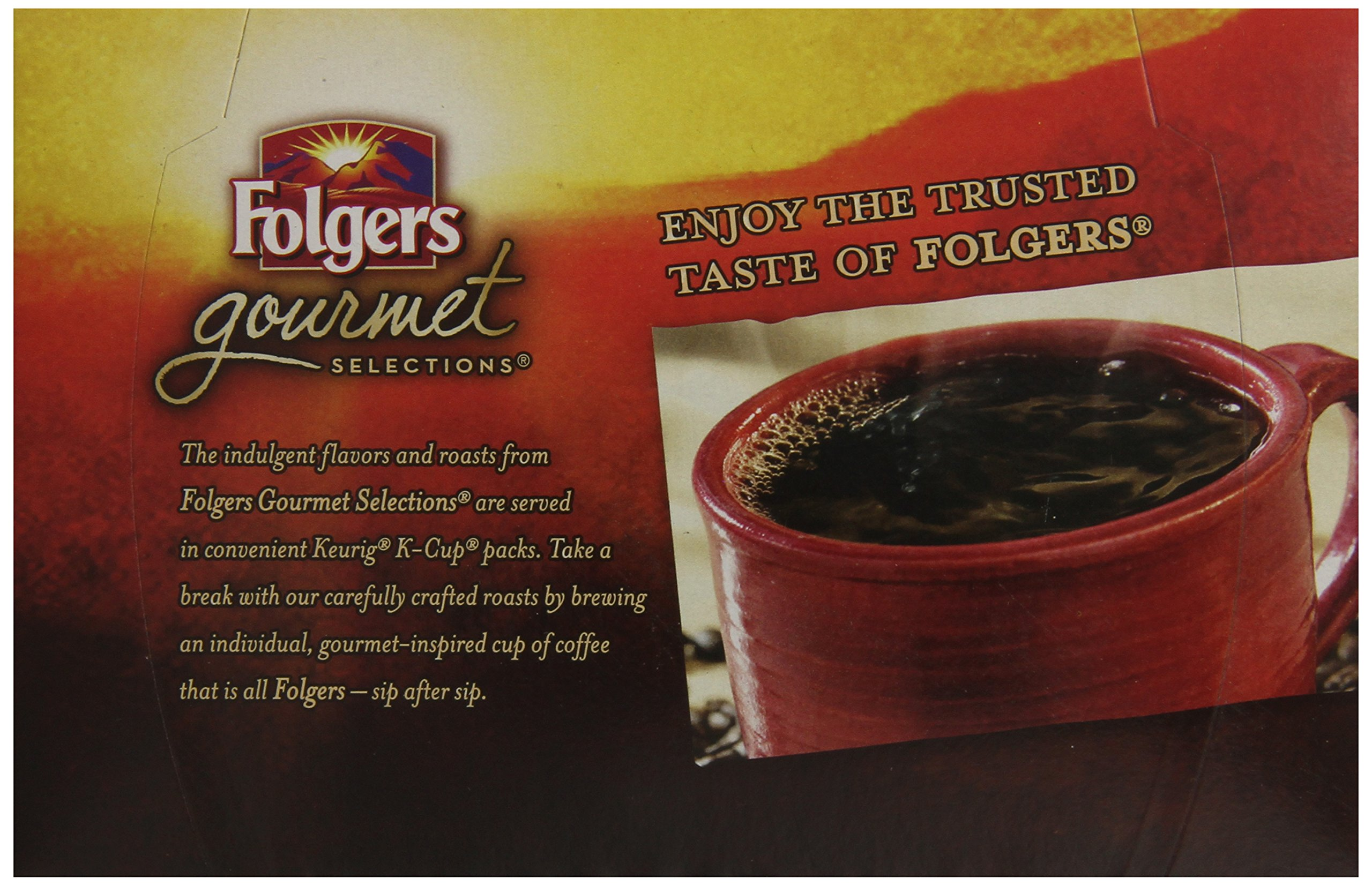 Folgers Hazelnut Cream Flavored Coffee, K Cup Pods for Keurig K Cup Brewers, 12-Count (Pack of 6)