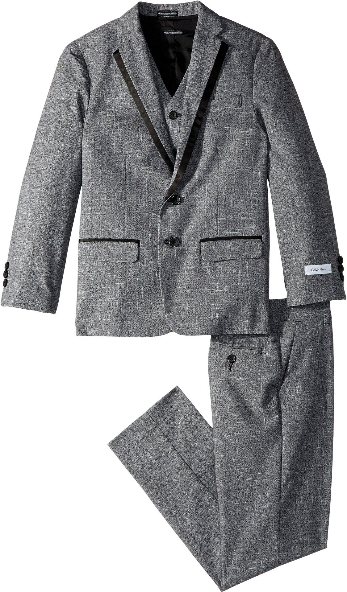 Calvin Klein Big Boys' Twist 3 Piece Suit, Medium Grey, 18