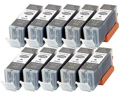 10 XL CC Serie Cartuchos de impresora CANON pgi570 X L con Chip e ...