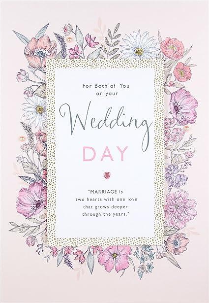 Hallmark Tarjeta de felicitación de boda con el texto