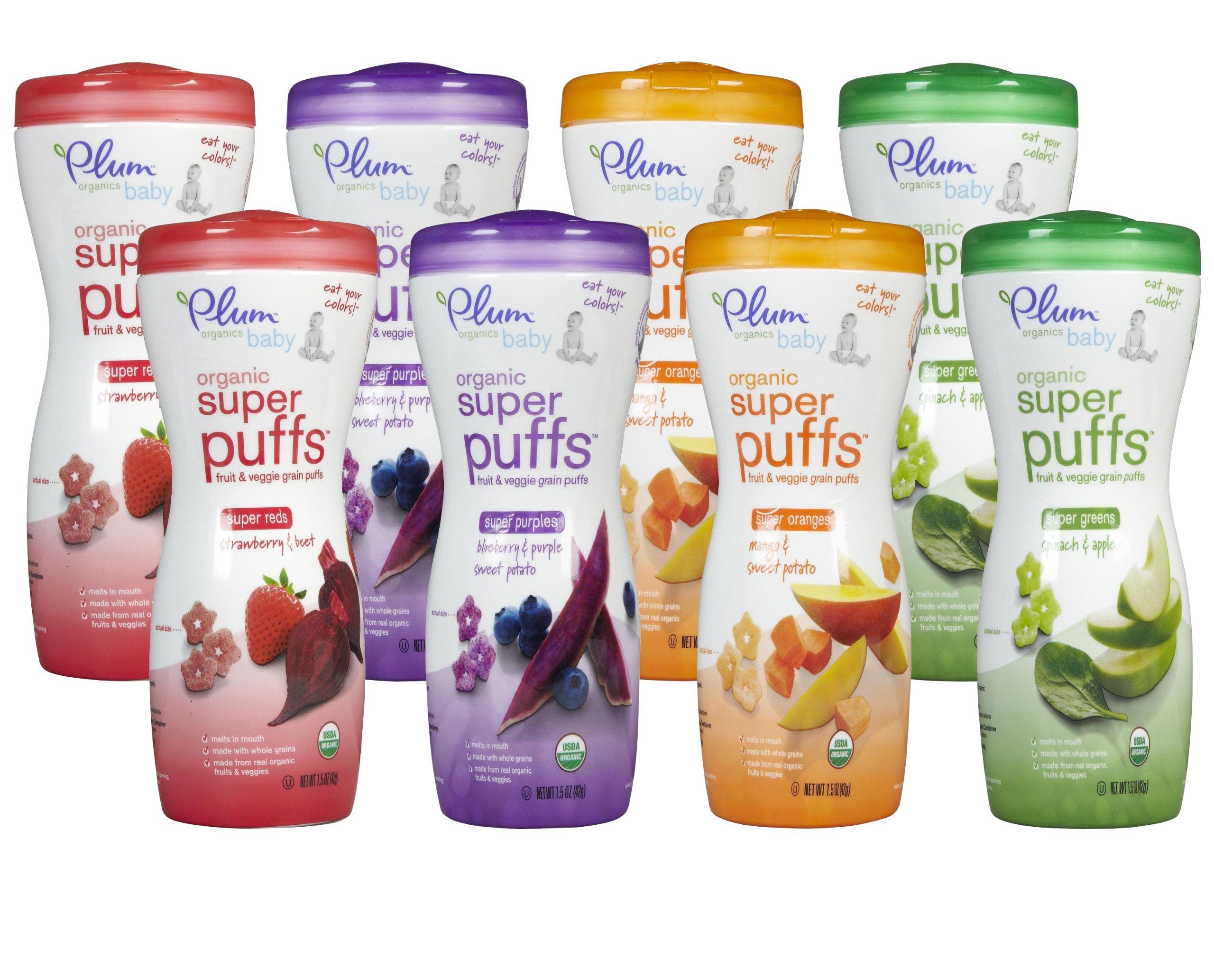 Plum Organics Super Puffs Variety Pack 1.5oz (Set of 8)