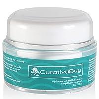 Curativa Bay Hyaluronic Acid Cream - Anti-Aging Moisturizing Face Serum - Natural...