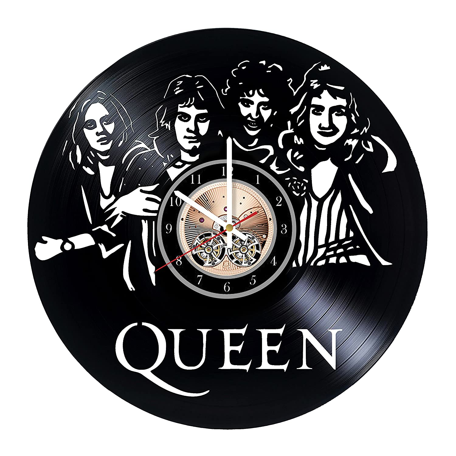 Get unique bedroom or kitchen wall decor Gift ideas for adults and youth Best Rock Music Band Unique Modern Art Queen Vinyl Record Wall Clock