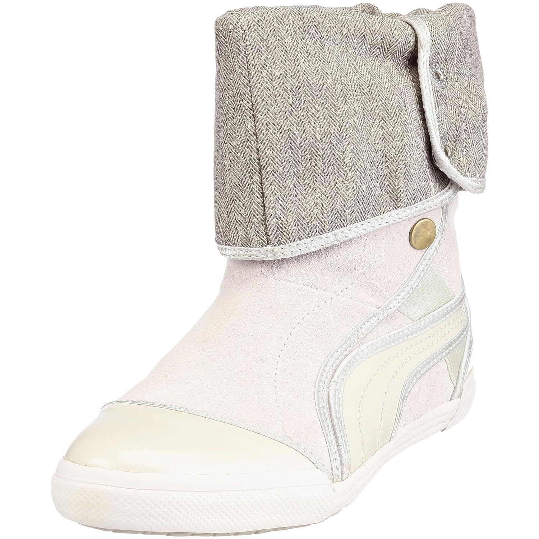 Puma 350376 03 Sugie Suede Wns, Damen Stiefel  38 EU|Silber (Silver Birch-gardenia White)