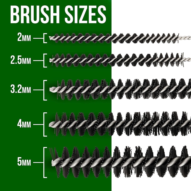 Manual Clean Poker Kit 11 Piece Airbrush Spray Gun Cleaning Brush /& Needle Set