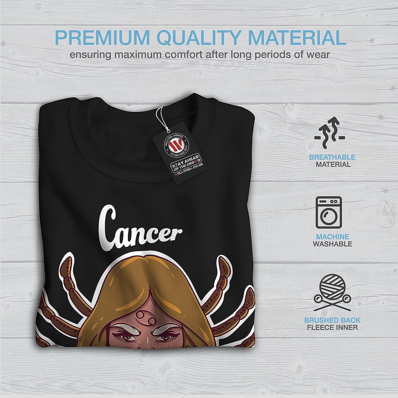 Zodiac Sign Casual Jumper wellcoda Cancer Mens Sweatshirt