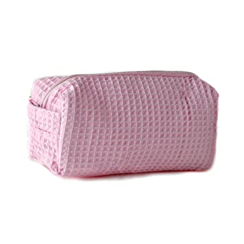 52b7581024 Amazon.com   Personalized Waffle Weave Cosmetic Bag Makeup Case Toiletry  Case Portable Travel Organizer Embroidered With Your Name or Text (Small