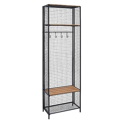 Amazon.com: Grid perchero de madera y Locker de metal ...