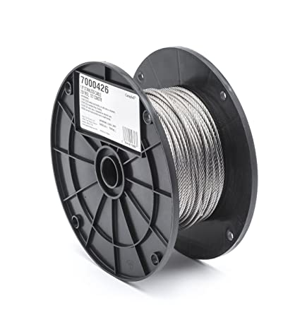 Amazon.com: Stainless Steel 316 Wire Rope on Reel, 7x7 Strand Core ...