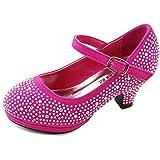 Forever Dana-53k Little Girl Mid Heel Rhinestone Pretty Sandal Dress Shoes
