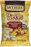 Snyders Honey Mustard and Onion Pretzel Pieces 63.8 g (Pack of 6)