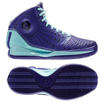 buy popular 91af0 ef0c2 Adidas D Rose 3.5 J Purple Blue Zest G66479 Kids Boys Basketball Shoes (Size