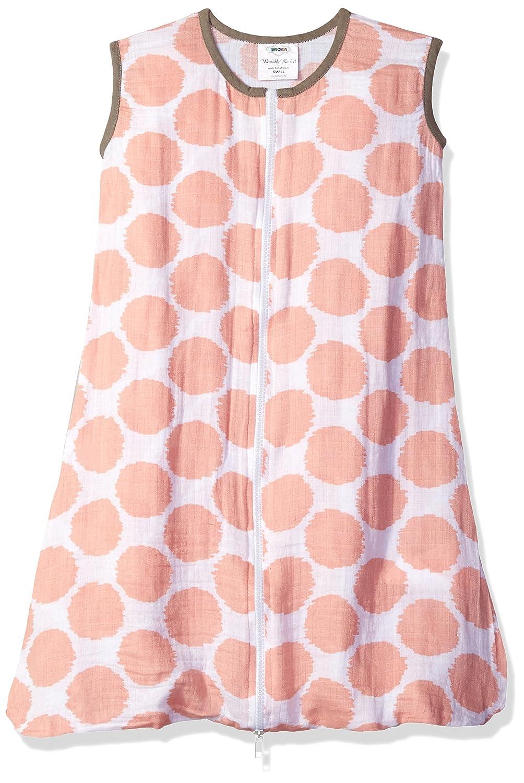 Bacati Muslin Ikat Dots Sleep Sack Wearable Blankets, Coral/Grey, Small BICDSS