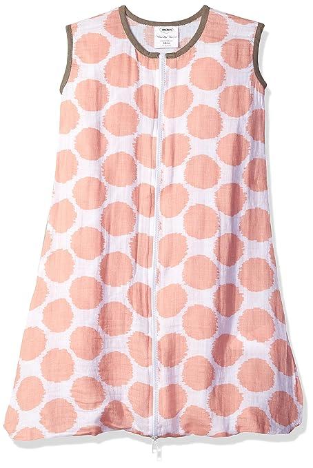 bacati muselina, diseño de lunares saco de dormir portátil mantas, Coral/Gris,